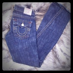 True Religion Joey Dark Denim Flared Jeans 27